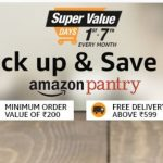 Amazon Pantry upto 50% off + 10% Cashback on Rs. 2000